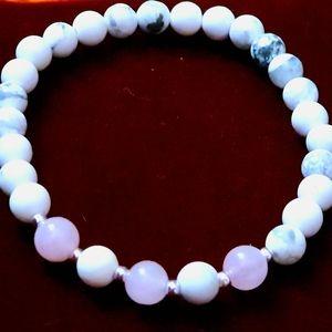 Natural gemstone stretching bracelet